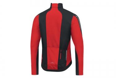 veste thermique coupe vent gore bike wear oxygen windstopper noir rouge s