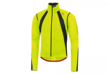 veste thermique coupe vent gore bike wear oxygen windstopper jaune noir l