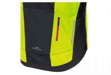veste thermique coupe vent gore bike wear oxygen windstopper jaune noir xl