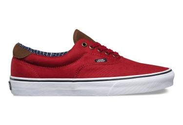 Chaussures VANS CORD & PLAID ERA 59 Rouge