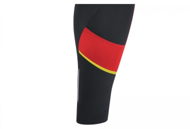 cuissard thermique gore bike wear power 3 0 noir rouge xxl