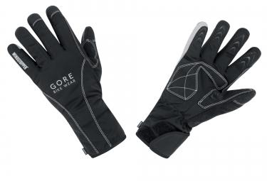 gants hiver gore bike wear road windstopper thermo noir l