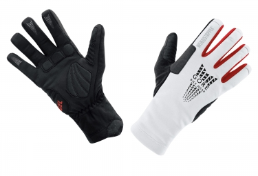gants hiver gore bike wear xenon windstopper thermo noir blanc xxl