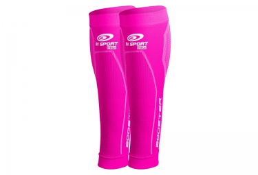 BV SPORT Calf Compression Sleeves BOOSTER ELITE Pink