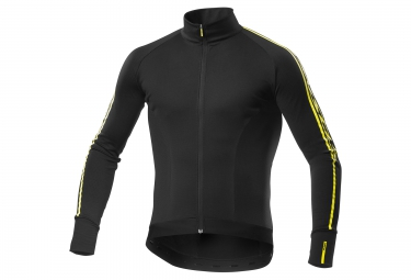 Maillot Manches Longues Mavic Cosmic Elite Thermo Noir Jaune 2017