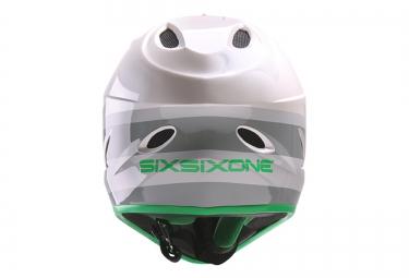 661 SIXSIXONE Casque Intégral COMP Gris Vert 2017