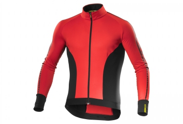 maillot manches longues mavic cosmic elite thermo rouge noir 2017 s