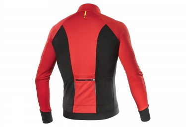 maillot manches longues mavic cosmic elite thermo rouge noir 2017 xl