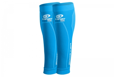 manchons de compression mollet bv sport booster elite bleu s plus