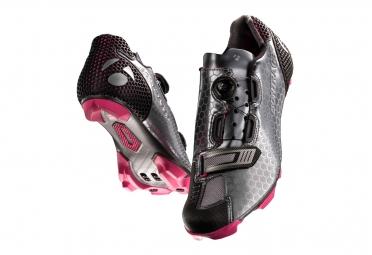 chaussures vtt femme bontrager tinari gris rose 37
