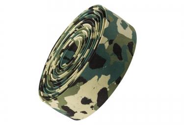 ruban de cintre bontrager gel cork camouflage vert