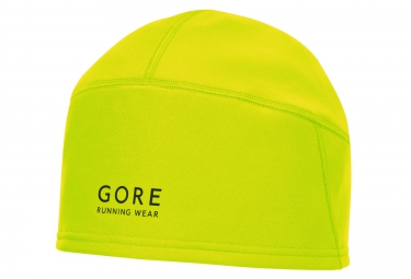 bonnet gore running wear windstopper jaune