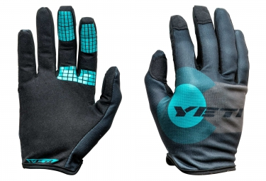 gants longs yeti summit gris bleu s