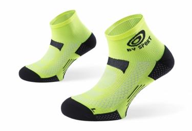 bv sport paire de chaussettes scr one jaune 39 41