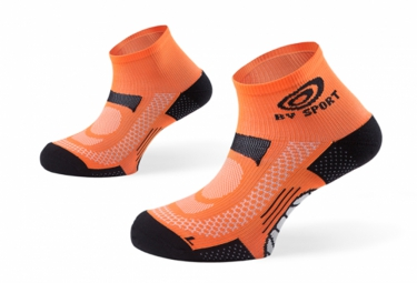bv sport paire de chaussettes scr one orange 42 44