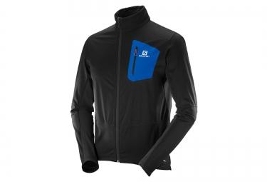 veste salomon equipe softshell noir bleu s