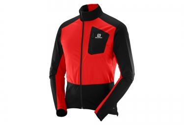 veste salomon equipe softshell noir rouge m