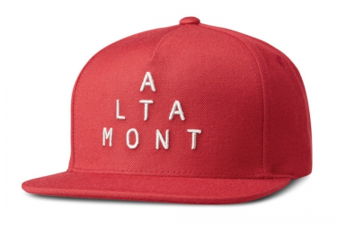 ALTAMONT ALPHA Snapback Cap Red