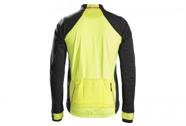 veste bontrager velocis s2 softshell noir jaune haute visibilite xs