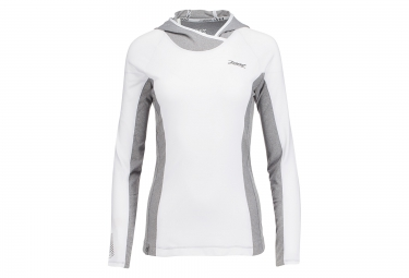 maillot a capuche zoot ocean side blanc gris xs