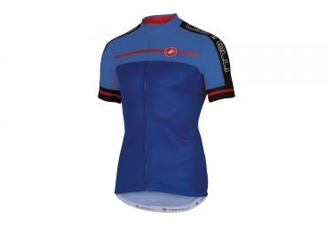 maillot manches courtes castelli velocissimo bleu s