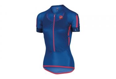 maillot manches courtes femme castelli climber s 2 0 bleu m