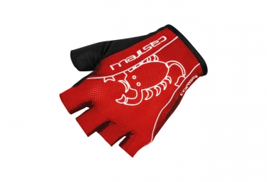 Gants courts castelli rosso corsa classic rouge s