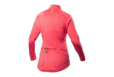 maillot manches longues femme ksyrium elite thermo rose 2017 l