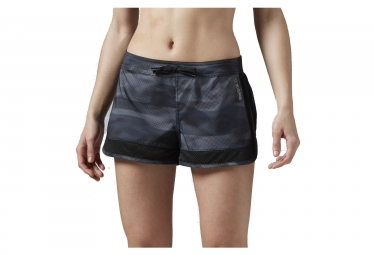Short femme reebok workout gris l