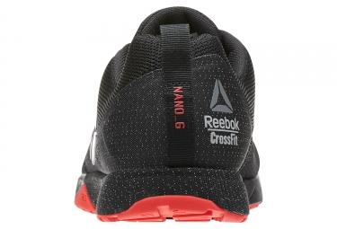 REEBOK CrossFit NANO 6.0 DARK STEALTH Noir Rouge
