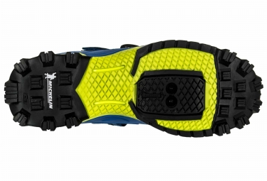 paire de chaussures vtt northwave enduro mid bleu jaune 46