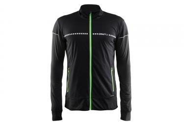 veste thermique craft run noir vert s