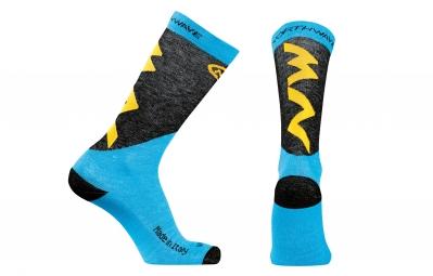 chaussettes hiver northwave extreme pro bleu jaune 36 39