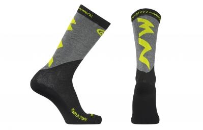 chaussettes hiver northwave extreme pro jaune fluo noir 36 39
