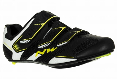 chaussures route northwave sonic 2 noir jaune 44
