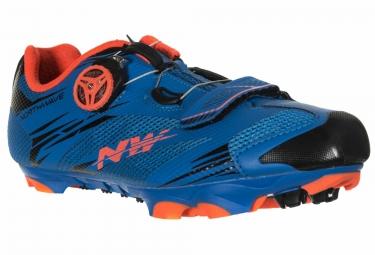 chaussures vtt northwave scorpius 2 plus bleu orange 45