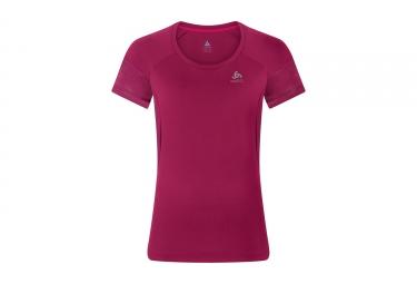 maillot manches courtes femme odlo versilia rose s
