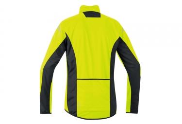 veste soft shell gore bike wear element windstopper jaune noir s