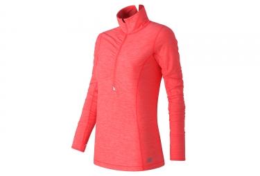 maillot manches longues femmes new balance wt53110 orange m