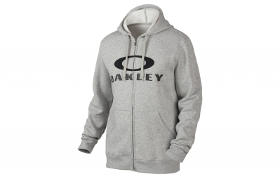 sweat a capuche oakley ellipse coupe droite gris xl