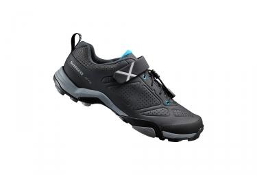 paire de chaussures vtt shimano mt500 noir bleu 40
