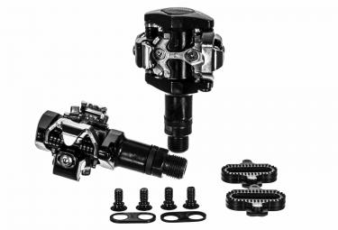 paire de pedales vtt shimano m505 noir