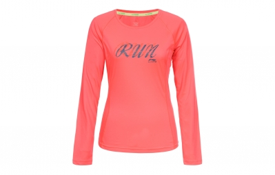 maillot manches longues femme li ning jetta rose l