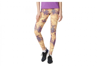 Collant long femme adidas running supernova allover print jaune violet l