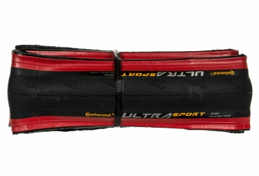 Pneu continental ultra sport 2 souple rouge 25 mm
