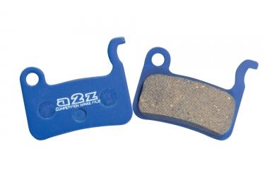 a2z paire de plaquettes organiques pour shimano slx xt xtr support aluminium