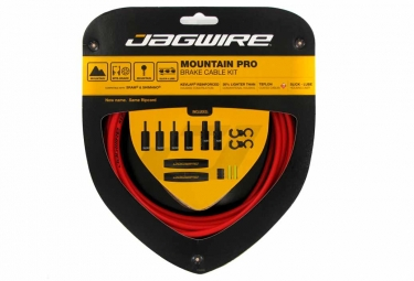 Jagwire Cables Kit Y Carcasas De Freno Ripcord Red Mountain Pro