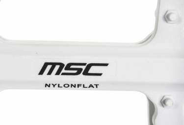 MSC Paire de Pédales NYLON FLAT Blanc