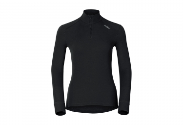 ODLO Women Long Sleeves BaseLayer Half-Zip WARM Black