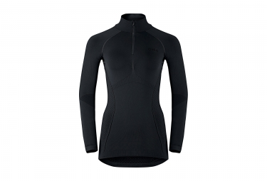 ODLO Damen Long Sleeves BaseLayer Half-Zip EVOLUTION WARM Schwarz